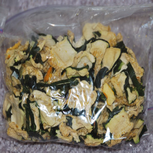 Bag of dehydrated Zucchini