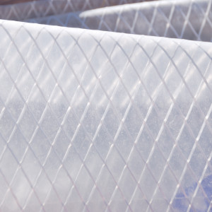 Close up of Reinforced Plastic used for Walls