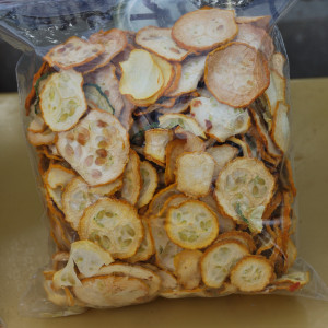 Dehydrated yellow squash